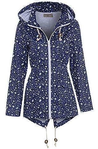 SS7 Femmes Marine étoile Veste de pluie, Grandes Tailles 18