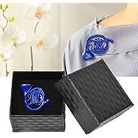 Spilla, metallo Blu Corno francese Spilla Spilla Ornamento con squisito confezione regalo per abiti artigianali…