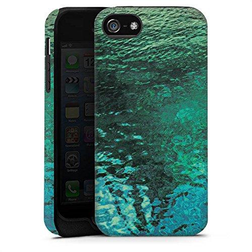 Apple iPhone 5s Housse Étui Protection Coque Surface de l'eau Lac Eau Cas Tough terne
