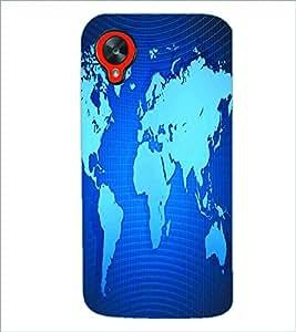 PRINTSWAG MAP Designer Back Cover Case for LG GOOGLE NEXUS 5