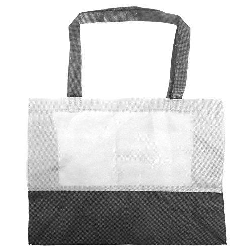 Bags By Jassz Hops - Borsa Tipo Shopper Due Colori Bianco Neve/Nero