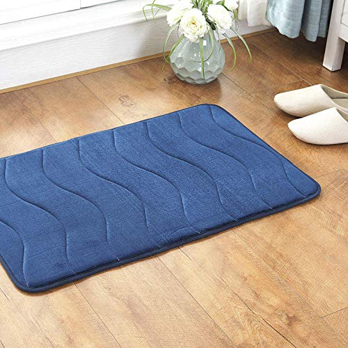 Leicht zu reinigende Fußmatte,Kinderteppich Schlafzimmer,Bad Küche Teppich Matte,Ultra Soft Contemporary Indoor Area Teppich,Verwendung für Home Decor@Blue_70 * 140cm - Blue Area Teppich