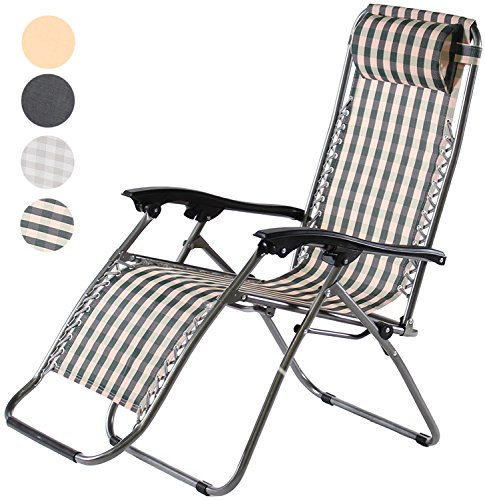 Charles Jacobs Zero Gravity Reclining Chair - Green Stripe