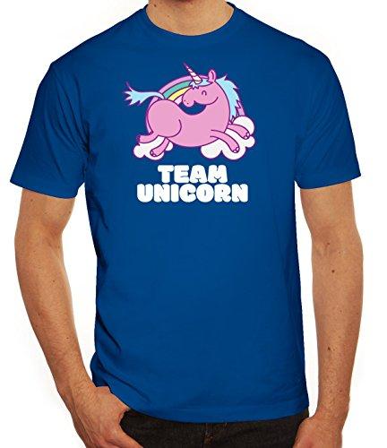 Einhorn Herren T-Shirt mit Team Unicorn Motiv von ShirtStreet Royal Blau