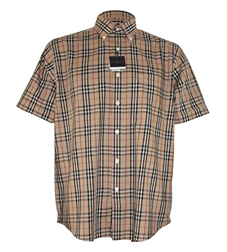 burberry-mens-casual-shirt-short-sleeves-beige-s