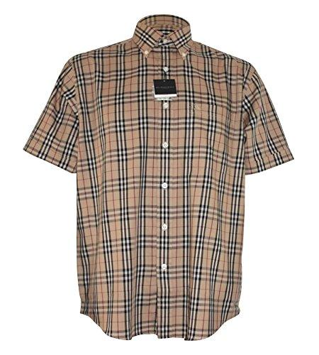 burberry-mens-casual-shirt-short-sleeves-beige-xl