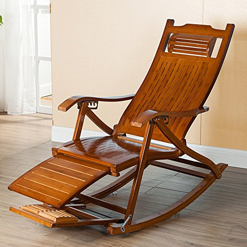 Chaise Lounges, Schaukelstuhl Patio Lounger Stuhl Alter Mann Bambus Klappstühle Sommer Nickerchen...
