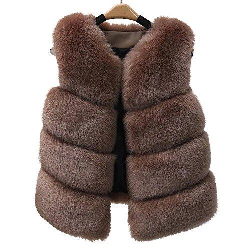 AKAUFENG - Manteau sans manche - Femme Kaki