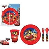 Minnie Frozen Cars Disney Spiderman Ninja Turtles – Juego De Desayuno – 4 Piezas - Plato Vaso Tenedor Cuchara