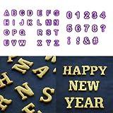 Hemore Ausstechform Buchstaben + Zahlen + 40 Bunte Halbkugeln und Dekoration für Erinnerungen Fasching Karneval