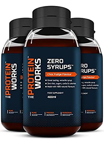 THE PROTEIN WORKS Zero Syrups - Chocolate Fudge, Pack of 3 x 400 ml