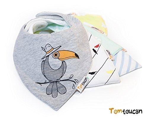 Tomtoucan baberos de bebe - Juego de 5 diseños unisex (Hello Sunshine)