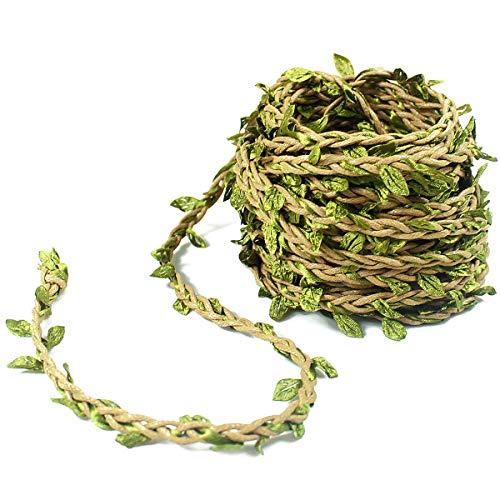 Dokpav 10m Verde Oliva Vid Falsas Plantas Colgantes