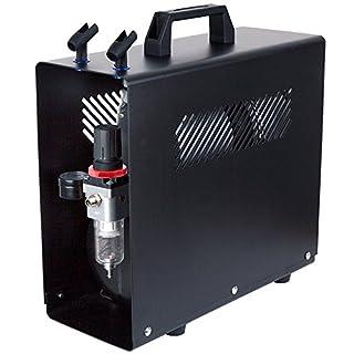 Fengda FD-186A Profi-AirBrush Kompressor mit Start/Stop-Automatik, mit Schutzgehäuse LEISE und ENERGIESPAREND! Das OPTIMALE Standard-Gerät für alle Profis und Beginner LIMITIERTES SONDERANGEBOT