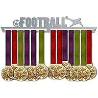 VICTORY HANGERS Soportes Para Medallas FOOTBALL Gancho Exhibidor de Medallas V1| Medallero | Elegante Expositor Para Medallas * 100% Acero Inoxidable | Percha Para Medallas | Para Los Campeones !