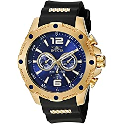 Invicta 19659 50mm Stainless Steel Case Black Polyurethane flame fusion Men's Watch