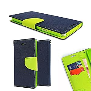 ORC Stylish Mercury Magnetic Lock Diary Wallet Style Flip Cover Case for Microsoft Lumia 950 XL (Blue,Green)