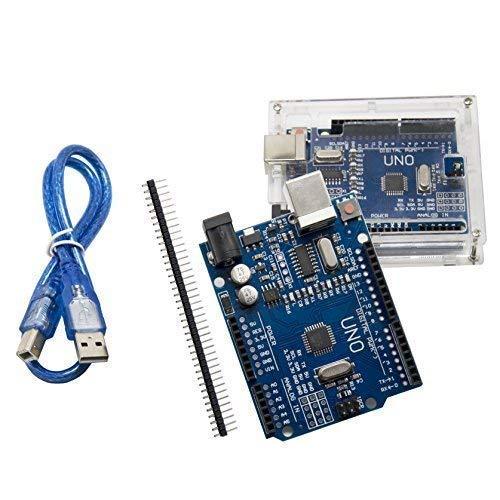 UNO r3 scheda madre ATmega328P CH340 - ALLEU U6012 con gomma e cavo USB compatibile con Arduino UNO R3