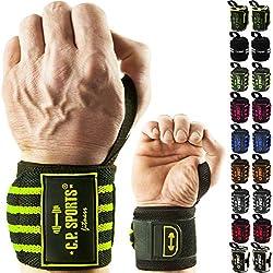 C.P. Sports Handgelenkbandagen DAS ORIGINAL/Bänder/Bandagen Bodybuilding, Handgelenkbandage, Fitness, Crossfit, Kraftsports, Männer, Frauen, 2 Jahre Gewährleistung (Lila-30cm)