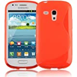 Samsung Galaxy S3 MINI Silikon-Hülle in ROT von Cadorabo - S-Line Design TPU Schutz-hülle – Handy-hülle Bumper Case Cover in INFERNO-ROT