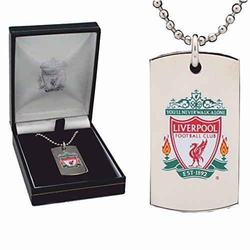 Liverpool Football Club Farbe Crest Dog Tags Edelstahl gratis Gravuren -