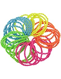 Evolution Elastic Rubber Band Metal Free Twisted Fabric Grip Hair Ties For Women (Pack Of 30)