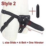 Big R-éalistic Strap On Silikon Verstellbares Geschirr Riemen mit Kugel, lustiges Spielzeug für lesbische Paare Style 2