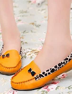Shoes For Women Splice Leopard Antiskid Fashion Flat Heel Leisure Comfort Round Toe Flats Outdoor