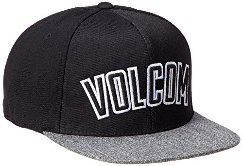 Volcom Fielder 110F Cap Baseballmütze Snapback Schwarz Schildmütze, Black, One Size Full-stone-stretch-hut