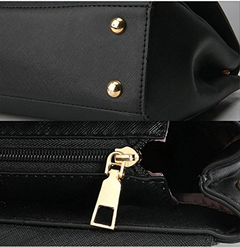Dame Lässig Retro Mode Handtaschen Hand Schulter Kuriertasche lightgray