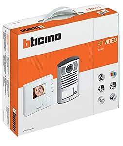 Bticino 365511Kit Interphone Classe 100V12B et la Main Box Linea 2000avec caméra Couleur Blanc