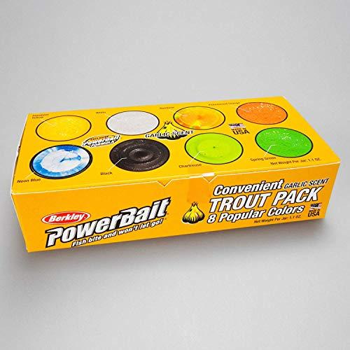 Berkley PowerBait Pack de 8 Pots de pâte à Truite