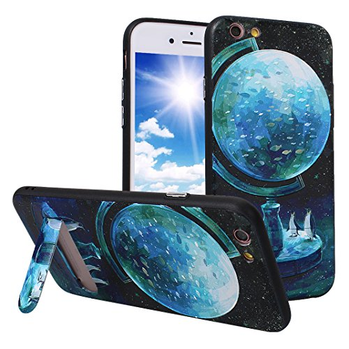 iPhone 6S Plus Case mit Stand, iPhone 6 Plus Hülle mit Stand, Moon mood® Handy Fall 2 in 1 Hybrid Schutzhülle für Apple iPhone 6 Plus / iPhone 6S Plus 5.5 Zoll Hart PC + Weich TPU Silikon Ständer Scha Muster 4