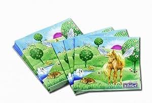 20 Serviettes Licorne Fantasy - Anniversaire Enfant - Goûter enfant