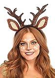 shoperama REH Haarreif mit Geweih und Ohren von Leg Avenue Stoff Rehkitz Kitz Bambi Rentier Hirsch Kostüm-Zubehör
