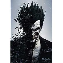 Empire Arkham Origins - Póster de Joker (Batman, 61 x 91,5 cm, incluye 2 barras de sujeción transparentes de plástico, 62 cm)