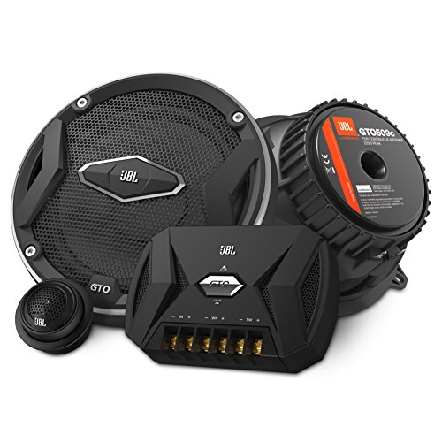 JBL Car GTO 509C 2-Wege Auto-Hifi Komponenten-Lautsprechersystem (13 cm (5 Zoll), 225 Watt, Inkl. 1 Paar Mittelton-Lautsprecher, 1 Paar Hochtöner, 1 Paar Frequenzweichen, Abdeckungen) schwarz