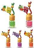 5 Stück elegante Duftflakons fürs Auto Autoduft Lufterfrischer Topseller Sommermix Mix: Ananas, Lavendel, Mango, Orange, Wassermelone