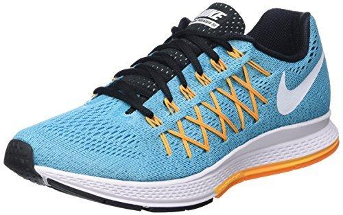 Nike Wmns Air Zoom Pegasus 32, Zapatillas de Running para Mujer, Azul (Gmm Bl / White-Lsr Orng-Vvd Orng), 36 EU