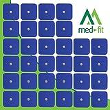 MED-FIT 5cmx5cm Flexi STIM 40 x 3.5mm Stud (tipo snap/boton) TENS Almohadillas autoadhesivas encajan con BEURER, SANITAS y VIRTUALMENTE todas las Maquinas de masaje TENS en Amazon.