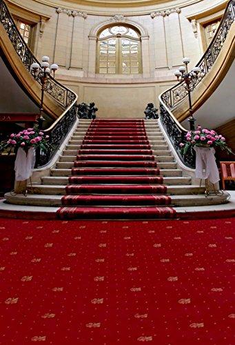 Rot Teppich Treppe Hochzeit Fotografie Hintergrund pink Blumen Fenster Wand Foto Hintergründe Studio Booth Requisiten Bild Shooting Tapete 8x Ladekabel