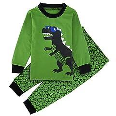 Idea Regalo - Mombebe Bambini Ragazzi Dinosauro Pigiama Set (Dinosauro 2, 5 Anni)