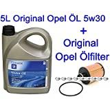 5L Original Opel ÖL Dexos2 Astra J Zafira Tourer C Insignia 2.0 CDTI + Ölfilter