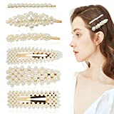 ZOYLINK 6 STÜCKE Künstliche Perlen Haarnadeln Haarspangen Damen Haarschmuck Haarklammer für Hochzeit Engagement, perfektes Geschenk für Frauen zum Geburtstag Valentinstag