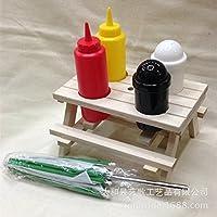 Preisvergleich für XBR gewürz - flasche rack barbecue grill gewürz - flasche, aus holz,und 19 * * 10.5cm 16,5