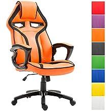 Poltrona Ufficio Arancione.Amazon It Poltrona Ufficio Racing Arancio