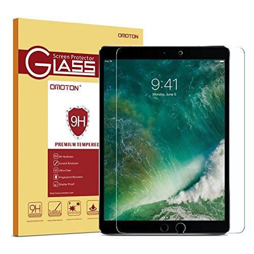 OMOTON Panzerglas Schutzfolie für iPad Air 10.5 [2019]/iPad Pro 10.5 [2017], 9H Härte, Anti-Kratzen, Anti-Öl, Anti-Bläschen