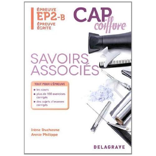 Savoirs associés épreuve EP2-B CAP coiffure : Epreuve écrite