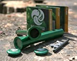 Fire Piston with Built-In Firesteel - PYRO PISTON (Green edition)