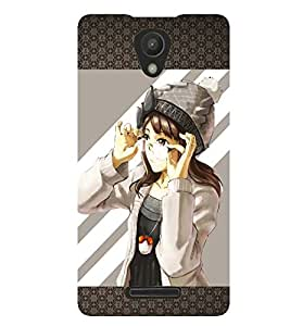 PRINTSWAG GIRL WITH GLASSES Designer Back Cover Case for XIAOMI REDMI NOTE 2(2ND GEN)